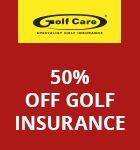 Golf Care 50% insurance offer