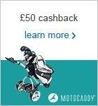 Motocaddy £50 cashback Christmas campaign