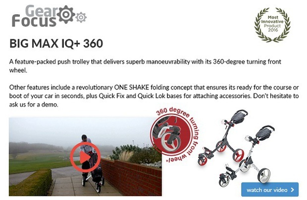 BIG MAX IQ+ 360 push trolley